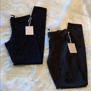 NWT 2 pairs of Lauren Conrad leggings sz X Small
